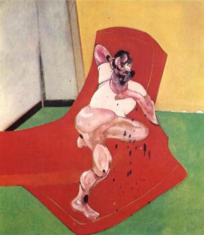 "Francis Bacon, Portrait of Lucian Freud (1964)  -See ""Last Tango In Paris"" opening credits scene."