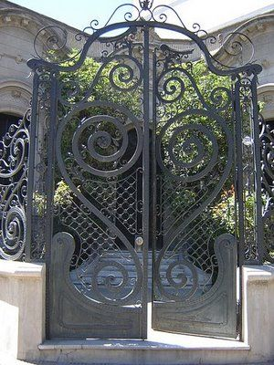 Beautiful Wrought Iron Entry Gate