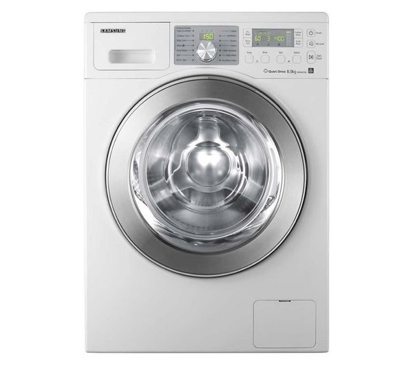 Samsung Lave Linge Eco Bubble Wf0804y8e Blanc Chrome