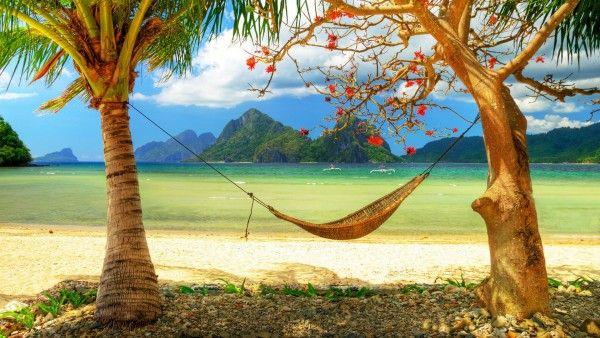 Fotos para relajarse. Hamaca en la playa - Fotos para todo lo que estás buscando