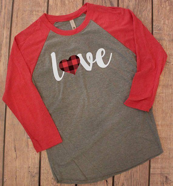 Buffalo Plaid Valentines T-Shirt Happy Valentines Day Shirt Custom Shirt Love Shirt! Personalized T-Shirt Heart Shirt Love Gift