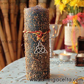 Vela Ritualizada para Ceremonia de Unión de Manos (Boda Celta)