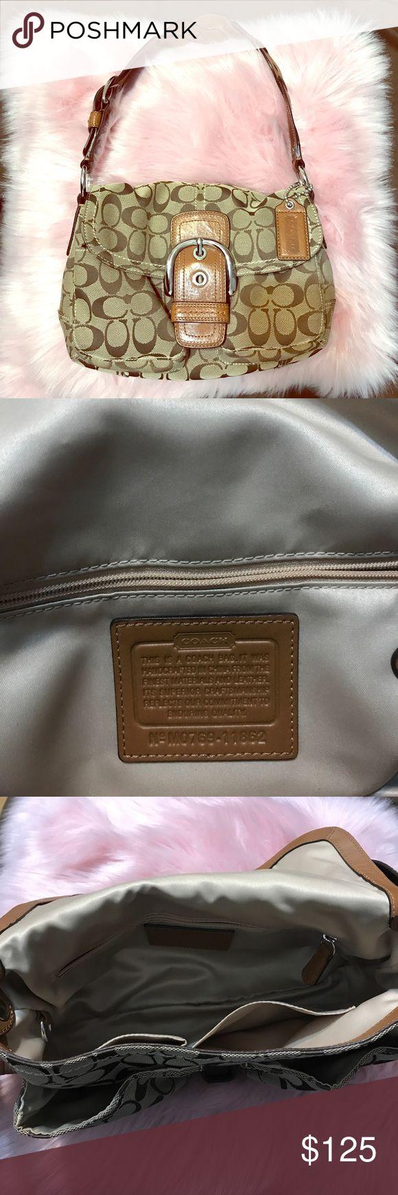 Authentic Coach purse In excellent condition no rips no tears super clean coach purse. Measures 12 x 7 Coach Bags Shoulder Bags