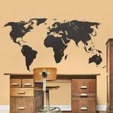 Chalkboard World Map Wall Stickers - Contemporary - Wall Decals - by Convenient Gadgets & Gifts