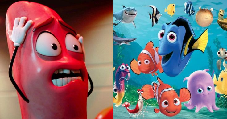 R-Rated Sausage Party Trailer Terrifies Young Finding Dory Audience -- The trailer for the upcoming R-rated animated comedy Sausage Party was accidentally shown to kids at a screening of Pixar's Finding Dory. -- http://movieweb.com/sausage-party-trailer-shown-before-pixar-finding-dory/
