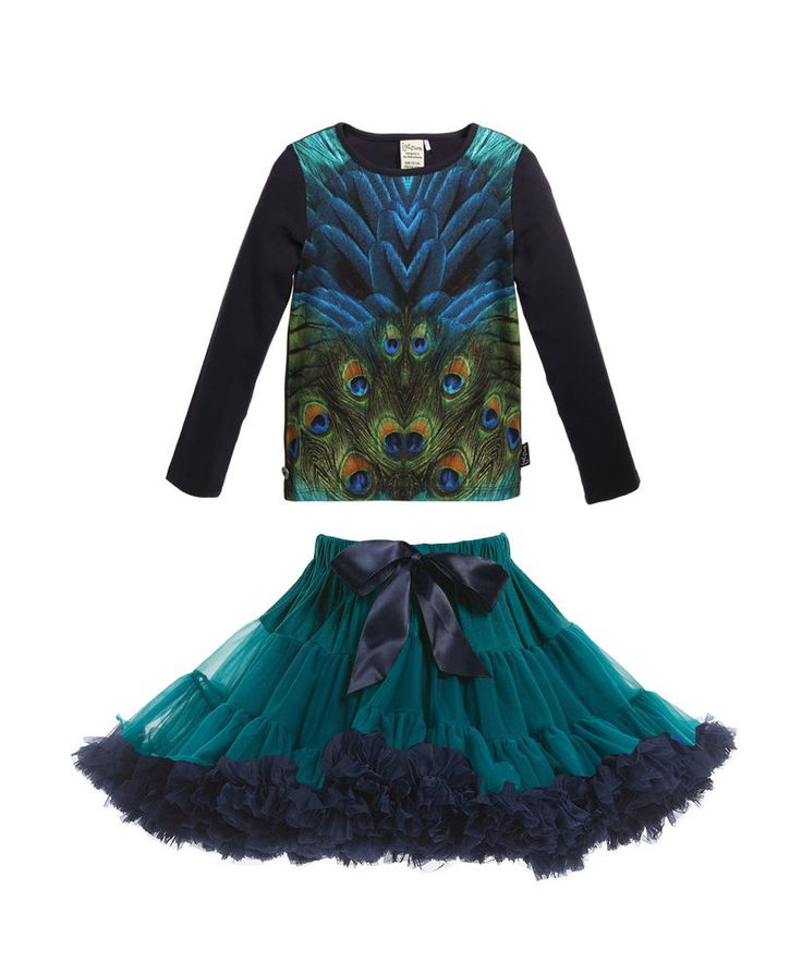 Jottum top Nukus winter 2015 & Oopsy Daisy Girl emerald and navy blue petticoat #OopsyDaisyGirl