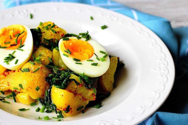 Bramborový salát s vejci a špenátem | Cooking with Šůša