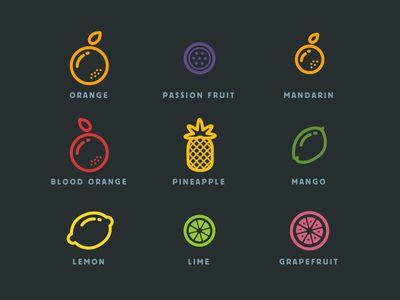 Fruit icons - Küchendeko