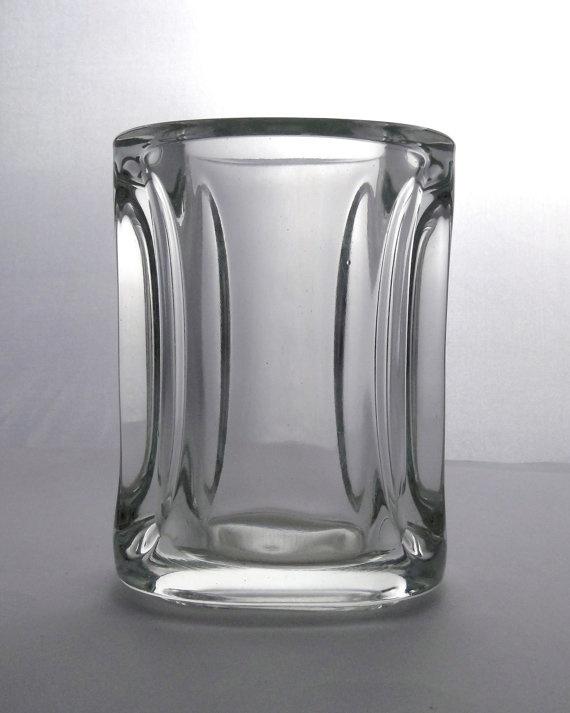 Sklo Union Adolf Matura Rudolfova 13284 -- massive pressed glass vase -- Czech pressed glass