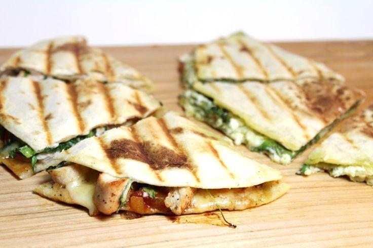 2 recepten voor gevulde piadina's! (1x kip en 1x vegetarisch met geitenkaas) - Superlekker en supersimpel! :D