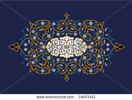 Samarkand Floral Ornament by Azat1976, via Shutterstock