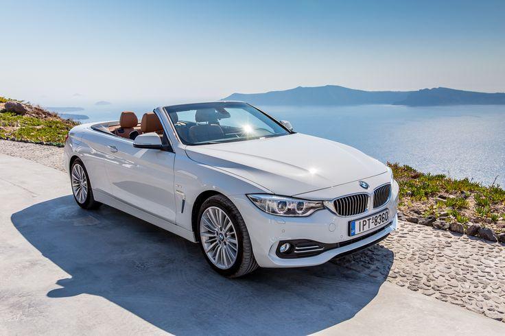 #Luxury #BMW 420D #Convertible #Sunny Santorini #Luxury Cars