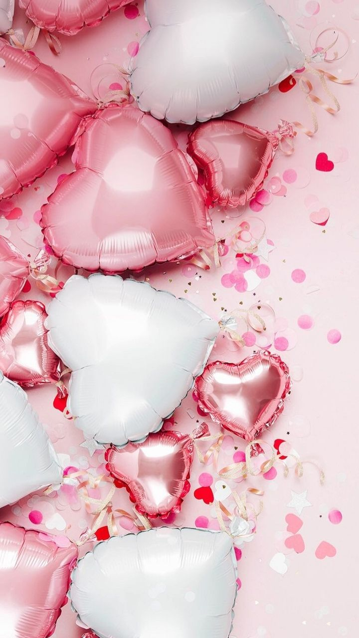 Shared By N2srin 3bd Find Images And Videos About Balloons On We Heart It The App To Get Lost Valentines Wallpaper Pink Wallpaper Iphone Birthday Wallpaper