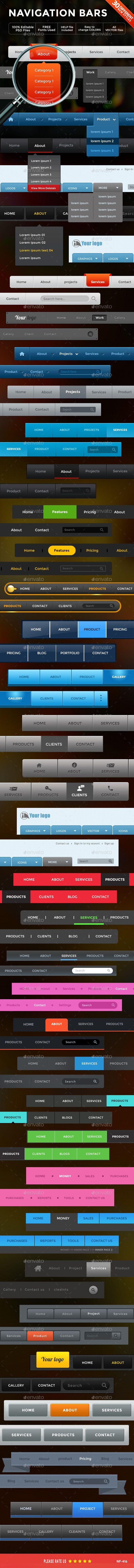 10 best navigation bars templates images on pinterest navigation