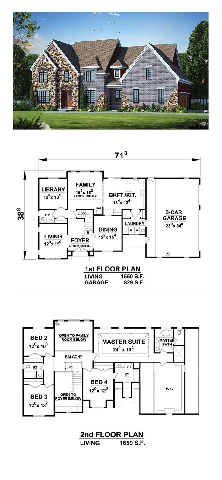 best 20 new house plans ideas on pinterest architectural floor new house plan 66727 total living area 3209 sq ft 4 bedrooms