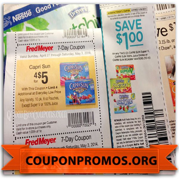 Free printable capri sun coupons