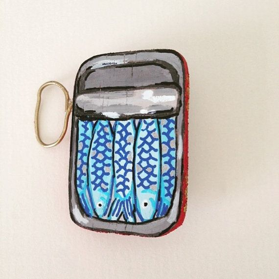 The sardines can brooch woodunisexretro by LindoRon on Etsy