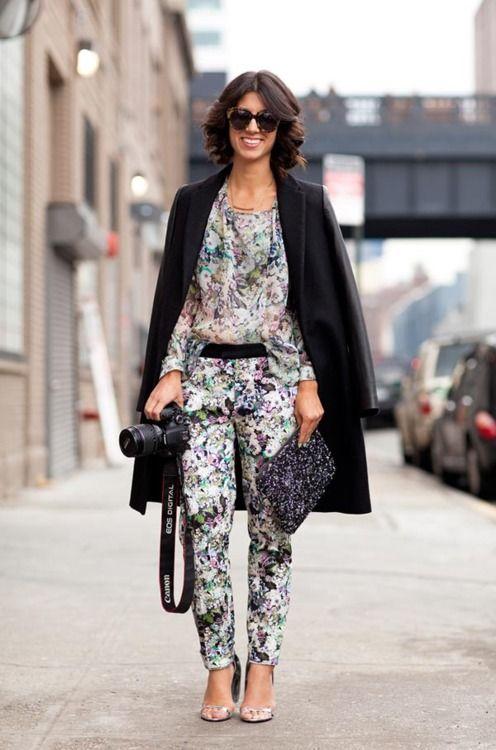 adorableWinter Street Styles, Fashion Weeks, Floral Prints, Fashion Styles, Style Inspiration, Street Style, Toes, New York Fashion, Floral Pants