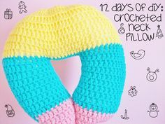 Free crochet Neck Pillow pattern from MooeyAndFriends