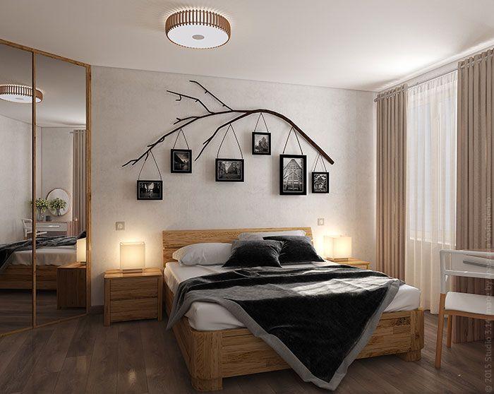 Дизайн спальни с элементами эко-минимализма в Жулебино