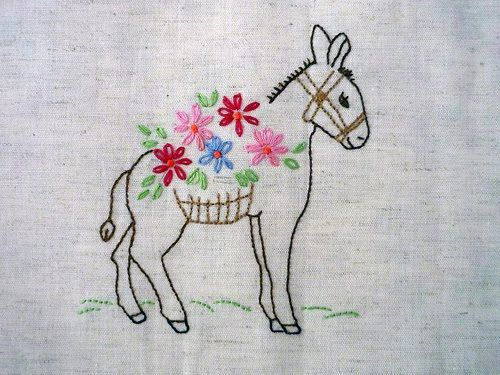 Embroidered donkey