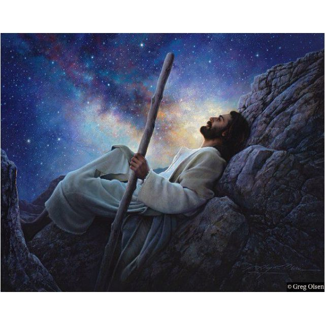 "Greg Olsen's most recent painting- ""Worlds Without End"""