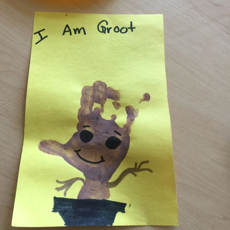 Groot Handprint Fun Activity For Toddlers And