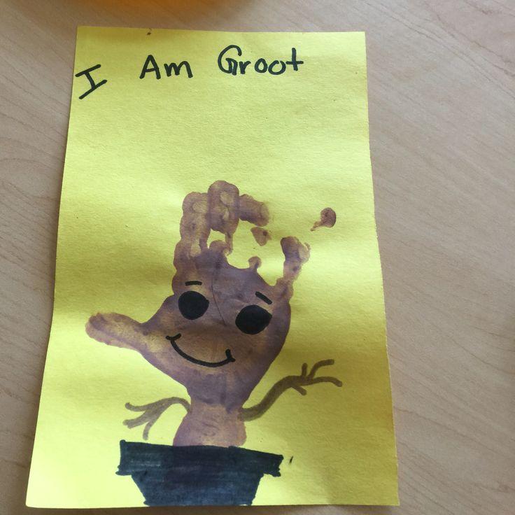 Groot handprint! Fun activity for toddlers and preschoolers!