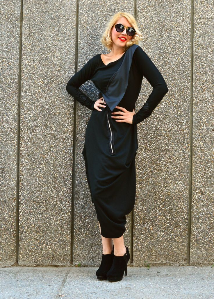 New in our shop! Black Asymmetrical Dress, Black Maxi Dress, Black Jersey Dress with Taffeta Collar TDK142 by TEYXO https://www.etsy.com/listing/241821293/black-asymmetrical-dress-black-maxi?utm_campaign=crowdfire&utm_content=crowdfire&utm_medium=social&utm_source=pinterest