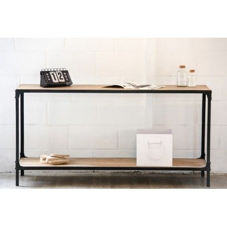 17 best ideas about console industriel on pinterest - Table haute industrielle bois ...