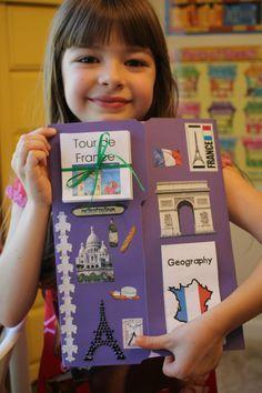 Spark and All: FIAR: Madeline - France Lapbook