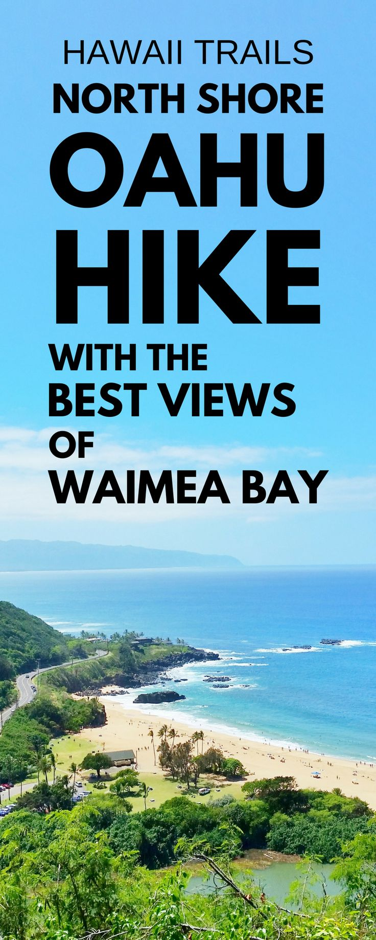 Short easy hikes in Hawaii: What's a North Shore Oahu hike that's easy to add to Hawaii vacation itinerary? Hawaiian temple heiau trail near Waimea Bay and best spots for snorkeling on North Shore and a pillbox hike. For US hiking trails in Hawaii, tons of hikes to go to from Waikiki, Honolulu. Beaches, shopping, food nearby. Outdoor travel destinations, activities, ideas for bucket list, budget adventures! Think what to wear, what to pack for hiking to add to Hawaii packing list.. #hawaii…