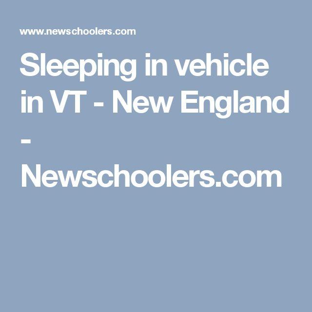 Sleeping in vehicle in VT