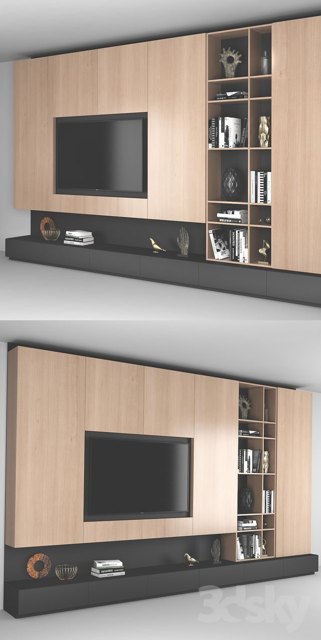 3d Models Wardrobe Display Cabinets Tv Wall 6 Tv