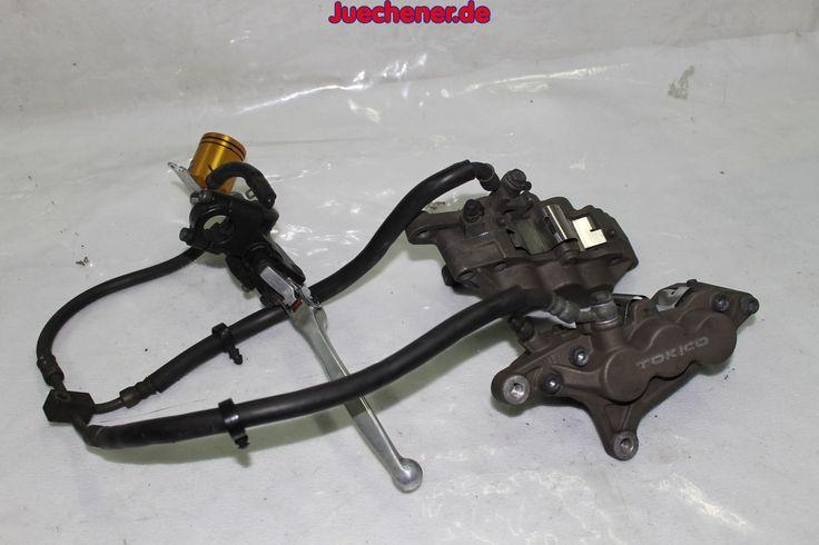 Kawasaki ZX6R Ninja ZX600J Baujahr 2002  Bremsanlage vorne, 2 x Bremssättel, Schläuche, Hebel, Vorratsbehälter  #Bremse #Bremssattel #Handbremshebel #Schläuche #Vorratbehälter
