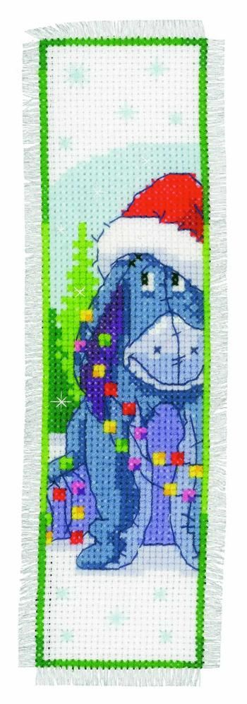 Vervaco Counted Cross Stitch Bookmark Kit - Christmas Eeyore Preview