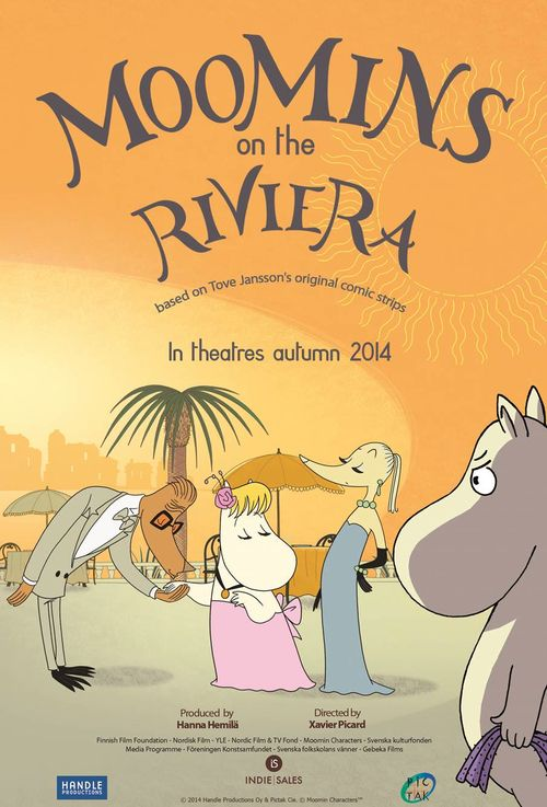 The new film poster for Moomins on the Riviera