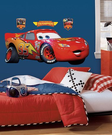 Take a look at this Lightening McQueen Peel & Stick Giant Wall Decal by Disney Pixar Cars on #zulily today!