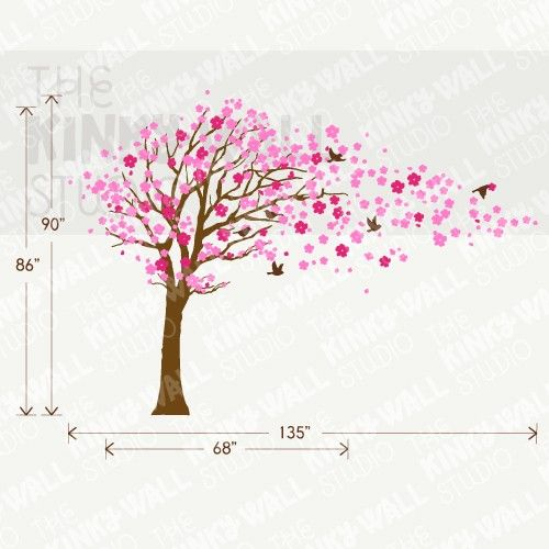 Kids Wall Decal Wall Sticker  Blossom Tree decal with by KinkyWall, $128.00