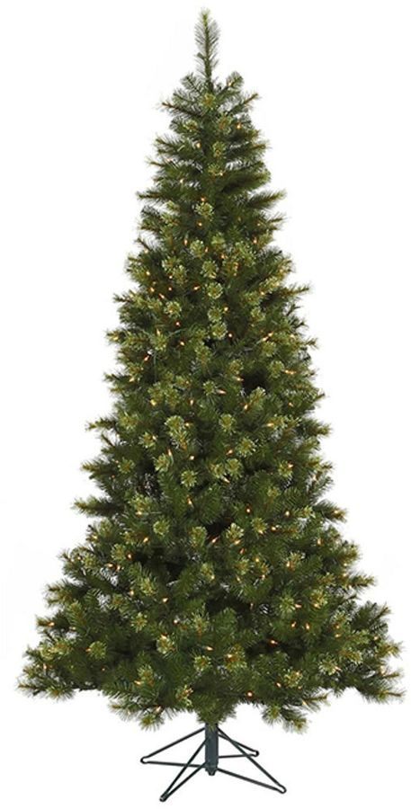 Asstd National Brand 7.5' Pre-Lit Jack Pine Slim Artificial Christmas Tree with Clear LED Lights