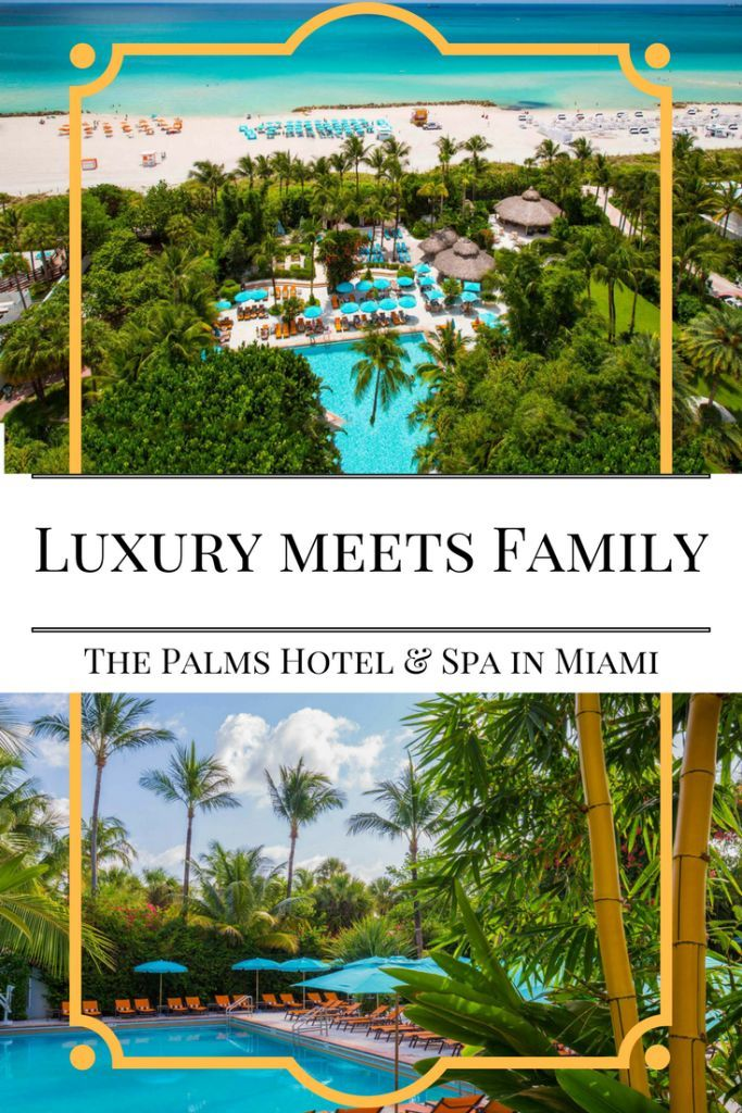 The BEST place to stay in Miami with kids. The Palms Hotel & Spa is centrally located, beachfront, luxurious, and they love families. Read my review + check out all the photos of this fabulous family-friendly resort in Miami. Plus, find fun things to do i