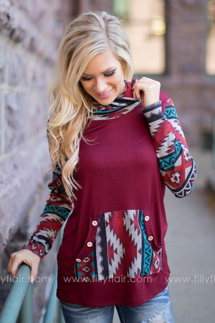 The perfection combination of aztec and color for fall!