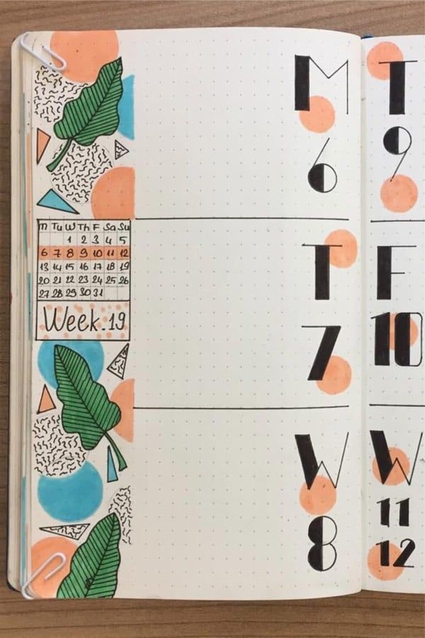 Bullet Journal Weekly Spread Ideas For May 2019
