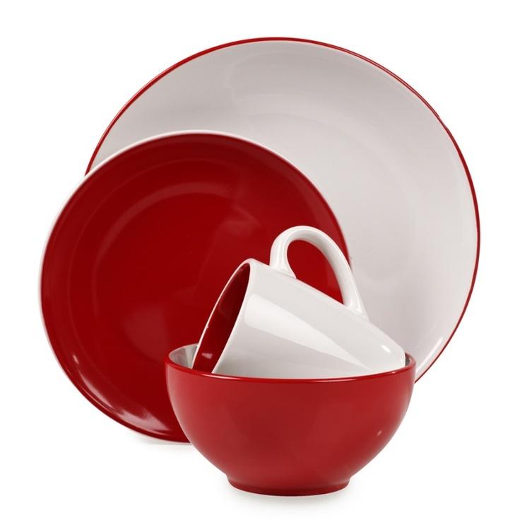 Red Dinnerware On Pinterest