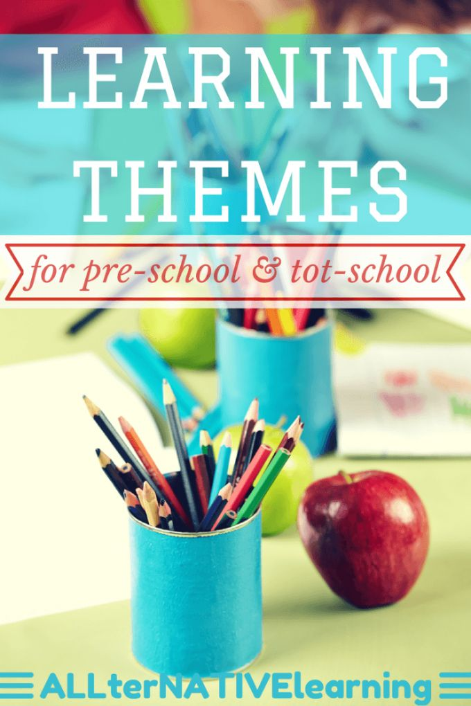 Weekly Learning Themes and Unit Studies for Pre-School and tot-school toddlers {FREE planner download}| ALLterNATIVElearning.com