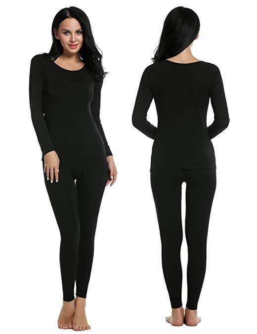 1b0399c623da Ekouaer Thermal Underwear Women's Soft Long John Winter Base Layer Slimming  Sleepwear PJs Set S-XXL Review