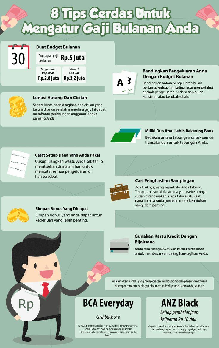 8 Tips Cerdas Untuk Mengatur Gaji Bulanan Anda https://kreditgogo.com/artikel/Keuangan-dan-Anda/-8-Tips-Cerdas-Untuk-Mengatur-Gaji-Bulanan-Anda.html #KartuKredit #TipsKeuangan #Salary #InfoGraphicKeuangan #InfografikKeuangan #TipsMengolahGaji #SalaryTips #ManagingSalary #Graphic