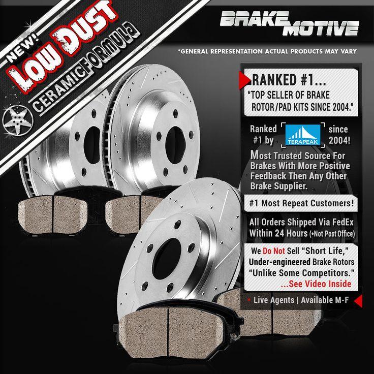 Slot Drill Rotor Ceramic Pads F+R 2004 Lexus RX330 Black