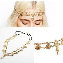 Parel kwastje bloem stretch hoofdband haarband acessories kristal bruids haaraccessoires haar sieraden hoofd-keten(China (Mainland))