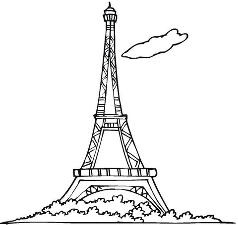 Eiffel Tower Coloring Page Free Printable Coloring Pages Di 2020 Menara Eiffel Gambar Kartun